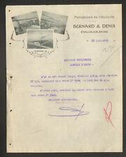 """CHALON-sur-SAONE (71) USINE de CONFECTION / VETEMENTS """"BERNARD & DENIS"""" 1912"""