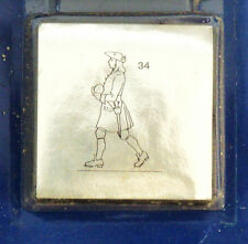 Prince August Tin Toy Soldier carrying a cannon ball number 34 in series mold