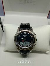 Tissot T-Touch II polished titanium case black mother of pearl diamonds quartz