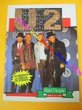BOOK LIBRO U2 BONO VOX 1989 STAR PEOPLE con foto no cd lp