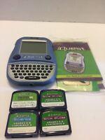 iQuest Handheld Learning System 4 Cartridges Games Quantum Leap  Grades 6-8