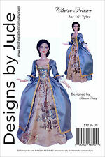 """Outlander Claire Dress Doll Clothes Sewing Pattern 18.25/"""" Evangeline Ghastly"""