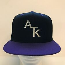 Lids ATK Snapback Black Purple Acrylic Wool Adjustable Mens Hat Cap OSFA