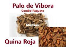 Quina Roja & Palo De Vibora 6 bags Cinchona Bark Peruvien Bark Snake Bark