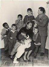 Joséphine Baker et ses enfants adoptifsPhoto Presse Vintage argentique