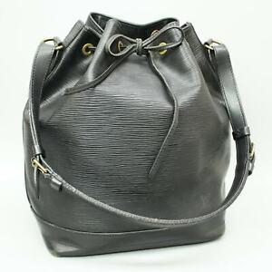 LOUIS VUITTON NOE Drawstring Shoulder Bag Purse Epi M59002 Noir Black