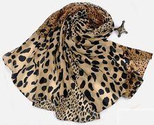 2016 Fashion Soft Scarf Leopard Animal Printed Women Chiffon Scarf Wrap