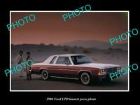 OLD POSTCARD SIZE PHOTO OF THE 1980 FORD LTD CAR LAUNCH PRESS PHOTO