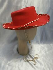 Vintage 1950's Children's Red Wool Cowboy Hat By KeySton Bros. w/ Box