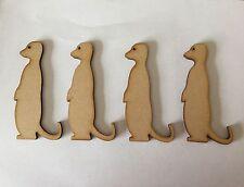 10 x Bois Craft en forme de suricates