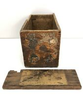 Stanley No. 45 Plane Box Cutter Box Wood Paper Label No Lid Parts Repair