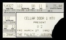 Original Vintage U2 The Palace Auburn Hills Mi 3.27.92 Ticket Stub