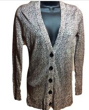 NWT $59 Loft Lightweight Leopard Cardigan V-Neck Sweater Petite Extra Small
