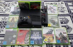 Microsoft Xbox 360 S Slim Konsole+Gratis Spiele+20GB HDD+ Controller+ HDMI PAL