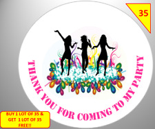 70 Non Personalise Disco Party Labels Stickers  sweet Cone Bags Box