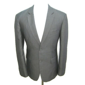 MANHATTAN Men's Size 38R Gray Check 2 Button Front Sport Coat Blazer Suit Jacket