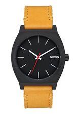*BRAND NEW* NIXON WATCH THE TIME TELLER ALL BLACK GOLDENROD A0452448 NIB!