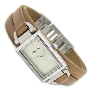 Fossil Damen Armbanduhr Uhr Edelstahl Leder braun JR-1370 5ATM Batterie neu N132