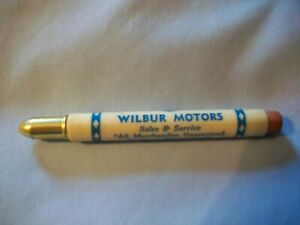 "Vintage Bullet Pencil ""Earl"" Wilbur Motors West Union Iowa"