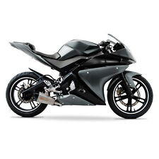 Yamaha YZF-R125 2008-2013 ABS Plastic Full Fairing Kit (20 panel) - Grey/Black