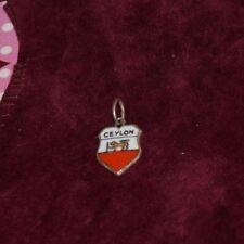 Ciondolo in argento smalti 800 Ceylon VINTAGE 800 SILVER ENAMEL V3 ^
