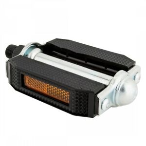 """SUNLITE Classic Block 9/16"""" Black/Silver Bicycle Pedals"""