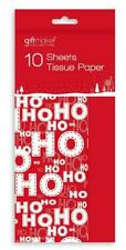 10 Pack Xmas Themed Tissue Paper - Napkins - 10 Sheets Party Supplies Christmas