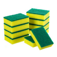 10PCS Sponge Eraser Cleaning Pads Dish Washing Stains Removing Kitchen