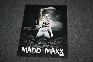 LAS VEGAS RAIDERS MAXX CROSBY #98 SIGNED AUTOGRAPH 11X14 PHOTO JSA WITNESS RARE