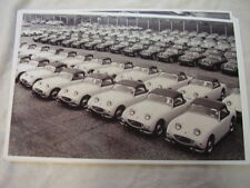 1950 'S  AUSTIN HEALY  BUGEYE STORAGE LOT FACTORY?    11 X 17  PHOTO PICTURE