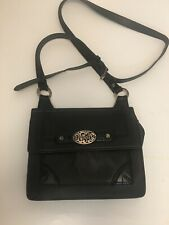 Brighton Contempo City Mini Bag Black Leather Crossbody Purse 2-Compartments