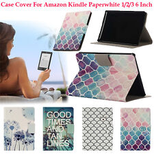 Stand Patterned Leather Case Cover for Amazon Kindle Paperwhite 1/2/3 6 Inch Lot
