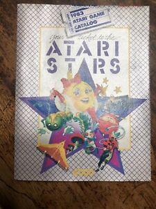 1983 ATARI STARS FOLD OUT PROMO POSTER VIDEO GAME CATALOG ATARI 2600 5200 S2
