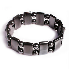 Magnetic Hematite Bracelet Pain Relief Energy Powerful Elastic D2