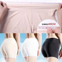 Silky Feel Comfortable Underwear Lingerie Safety Short Pants High Waist