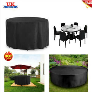 UK Large Round Waterproof Furniture Cover Outdoor Garden Patio Table Chair Set