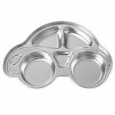 Divided Stainless Steel Food Snack Tray Lunch Box Portion Plate For Infant Kids