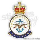 HM ARMED FORCES VETERAN BRITISH UK Car/Van/ Window Stickers - STATIC CLING