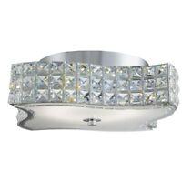 Searchlight 8366CC Modern LED Crystal Flush Ceiling Light 12W Semi Flush