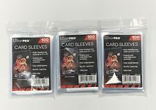 3 x Ultra Pro Sleeves 100 Count Card Sleeves Standard Size Soft Penny