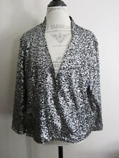 Alberto Makali Silver Sequin Evening Jacket XL NWT