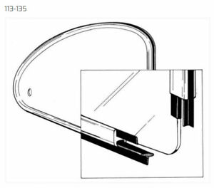 VW TYPE 1 BUG 1965-1977 POP OUT QUARTER WINDOW OUTER FRAME TO BODY SEALS