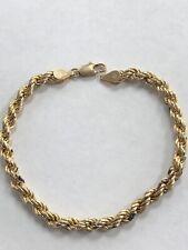 Beautiful Designer Simple 10KT Yellow Gold Rope Design Bracelet