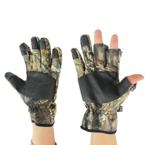 Fishing Fingerless Exposed Anti-Slip Outdoor 3 Cut Fingers Hunting Camo Gloves