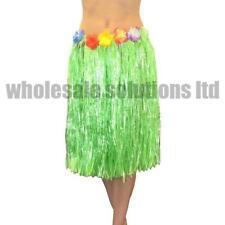 Hawaiian Fancy Dress Hula Grass Skirt Lei Flower Accessories Adult Costume