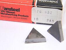 New Surplus 10pcs Vrwesson Carbide Inserts Tpg 432 Grade 2a5