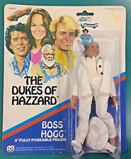 "1981 MEGO DUKES OF HAZZARD 8"" FIGURES NIP BOSS HOGG"