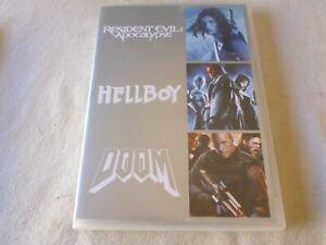 Resident Evil - Apocalypse / Doom / Hellboy (DVD, 2008) Region 4