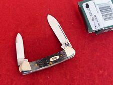 "Case XX USA 62132 SS 2-3/4"" black Bone 2000 10 Dot  Butterbean Canoe Knife MIB"