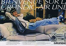 Publicité Advertising 016 1981 Grundig micro chaîne hi-fi (2 pages)